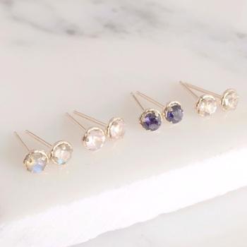 9ct Gold Tiny Gemstone Studs