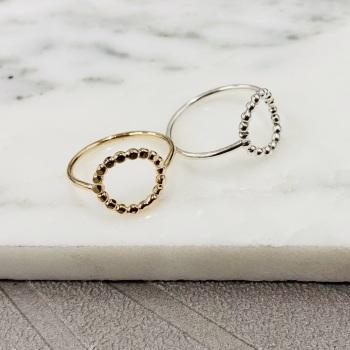 Bead circle ring