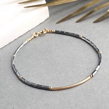 Hematite Contrast Bracelet