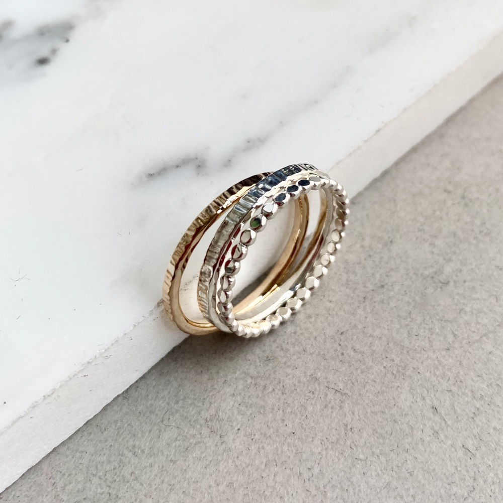 <!--5-->Trio Stacking Ring Set