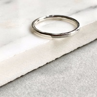 <!--5-->Sterling Silver Hammered Stacking Ring
