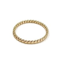 <!--4-->Solid 9ct Gold Beaded Stacking Ring