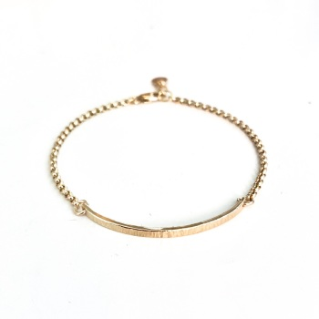 Hammered Bar Bracelet