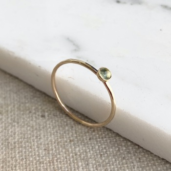 9ct Aquamarine Gold Stacking Ring
