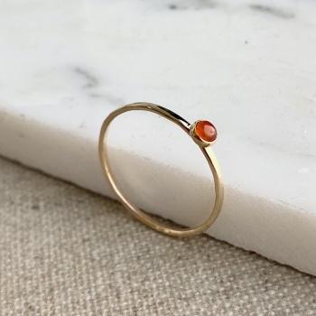 9ct Gold Carnelian Stacking Gemstone Ring