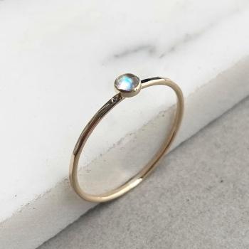 9ct Gold Labradorite Stacking Gemstone Ring