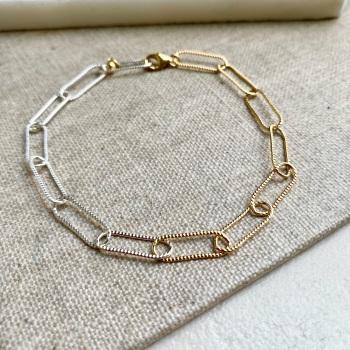 Two Tone Chain Bracelet