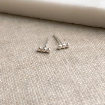 Three Dot Bar Earrings