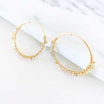 LIMITED EDITION | Wrapped Beryl Hoops