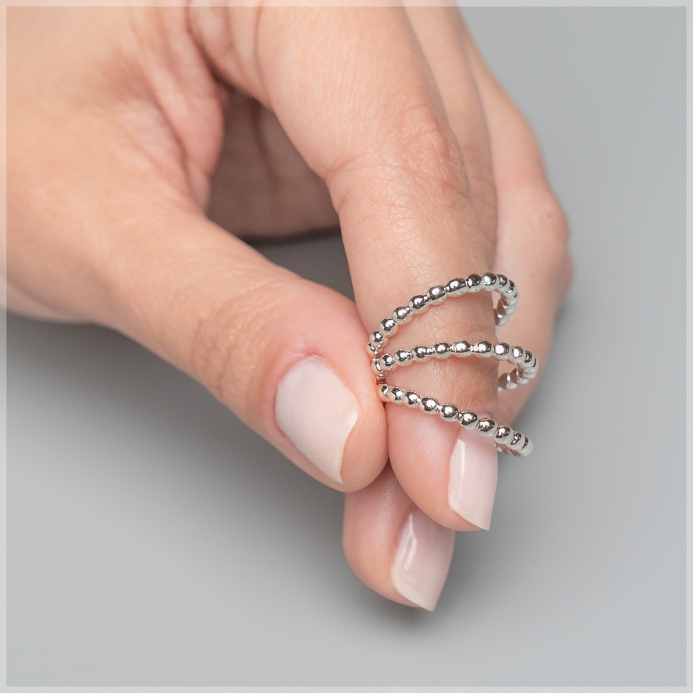 2mm Beaded Stacking Rings