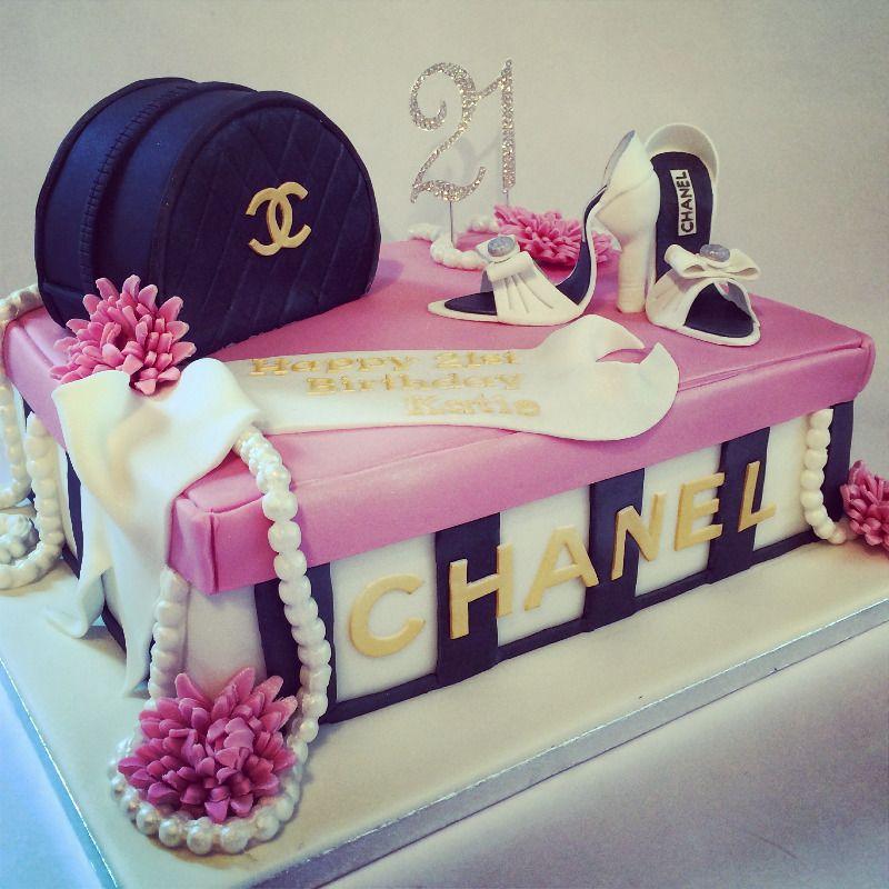 18th Birthday Plumber Cake 21stcake 3 1 2 3tiercrispycake Channelcake Crispycakepinkroses