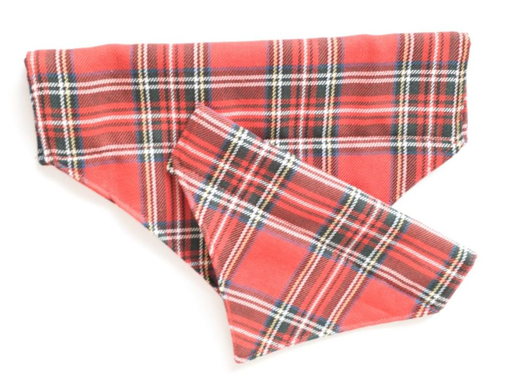 Tartan Over Collar/Collar Slide Dog Bandana
