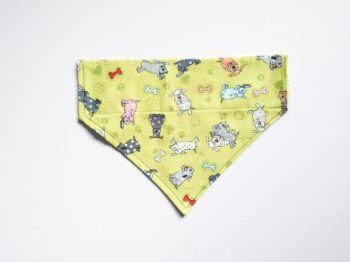 Playful Pups Over Collar / Collar Slide Dog Bandana