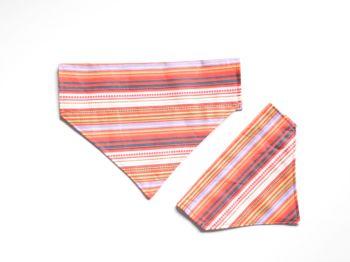 Striped Over Collar / Collar Slide Dog Bandana