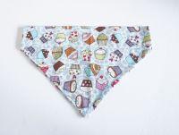 Blue Cupcakes Collar Slide/Over Collar Dog Bandana