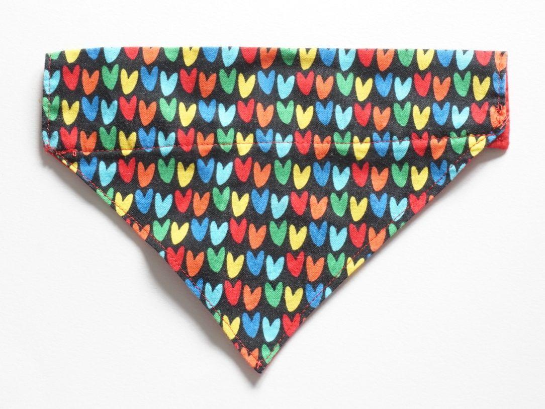 Heart Collar Slide Bandana