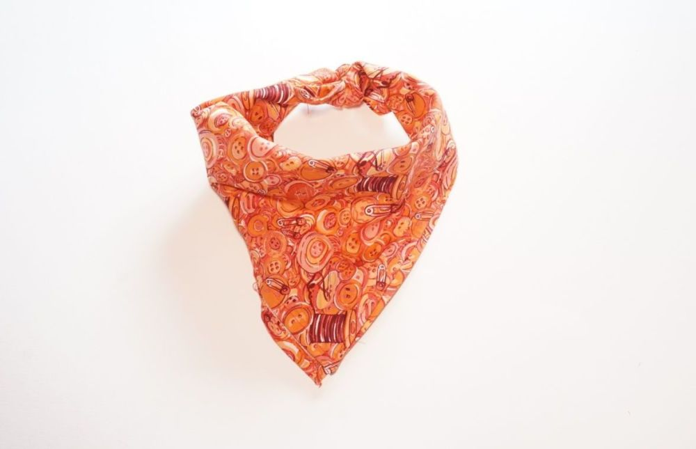 Buttons Square Tie On Dog Bandana