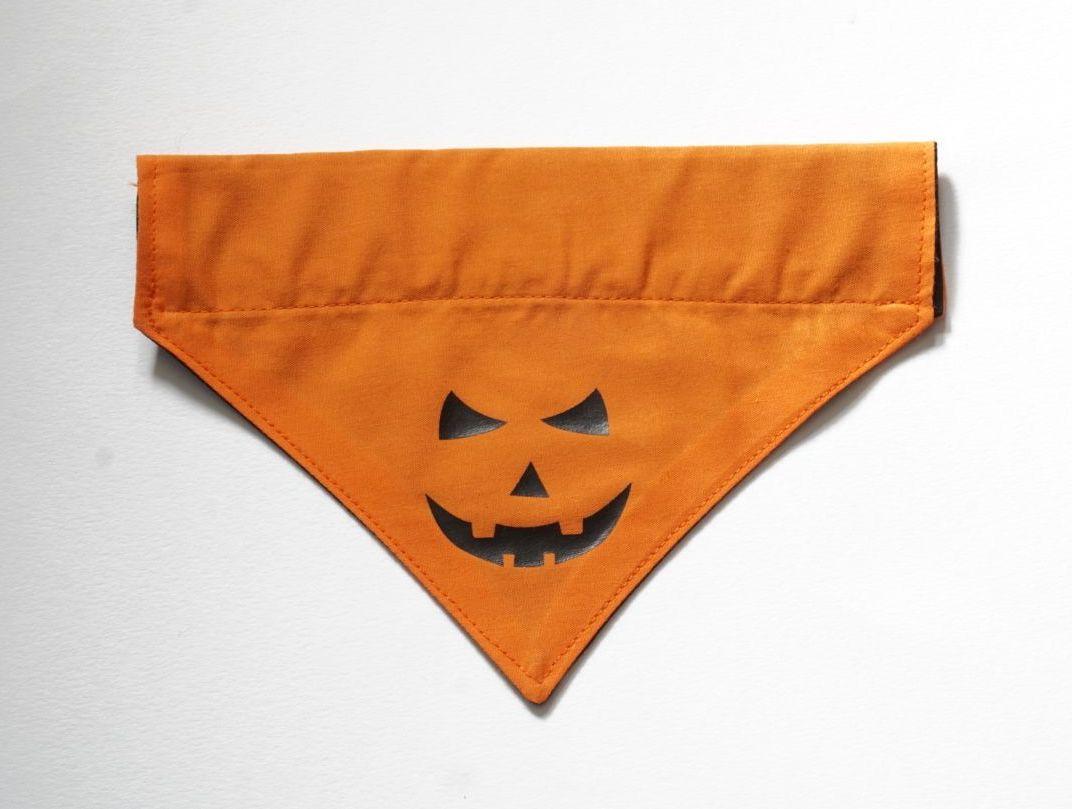 Reversible Over Collar Halloween Dog Bandana