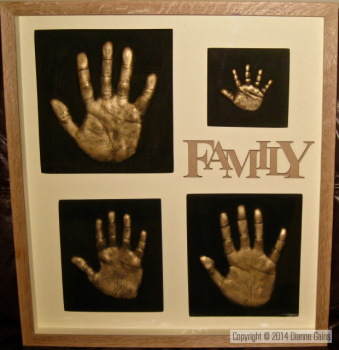 Family Set - 4 Single Handprints