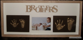 Sibling Set Hand & Foot (1 Tile Each) with Photo or Photos
