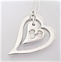 CHUNKY Funky Heart Within A Heart SIBLING HANDPRINT IMPRESSION - Jigsaw Collection