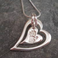 CHUNKY Funky Heart Within A Heart & Necklace - CHOOSE IMPRESSION Jigsaw Collection