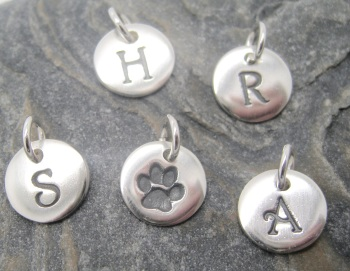 Bespoke Order, Initial Pendant: 4 initials along with paw print impression generic