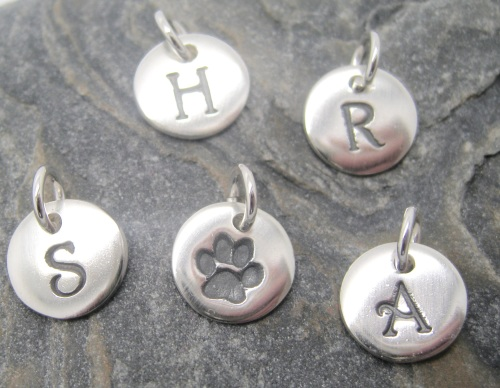 Bespoke Order, Initial Pendant: S, H, A, R along with paw print impression