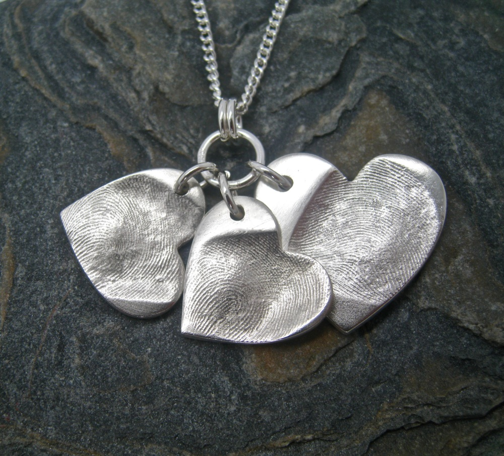 Fingerprint Jewellery Dainty Cluster - Includes Engraving - Choose your sha