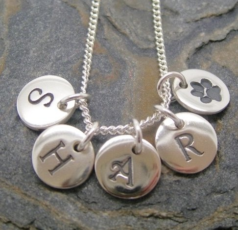 Initial Charms, suitable for a charm or pendant