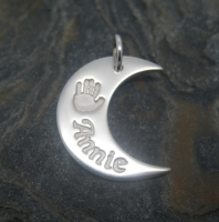 Moon Pendant - Large (Includes engraving and desired impressions)