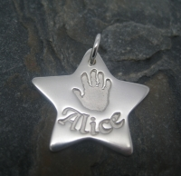 Star Pendant - Large (Includes engraving and desired impressions)