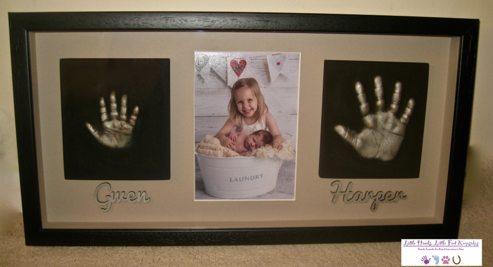Family Set - 2 Single Hands with a photo