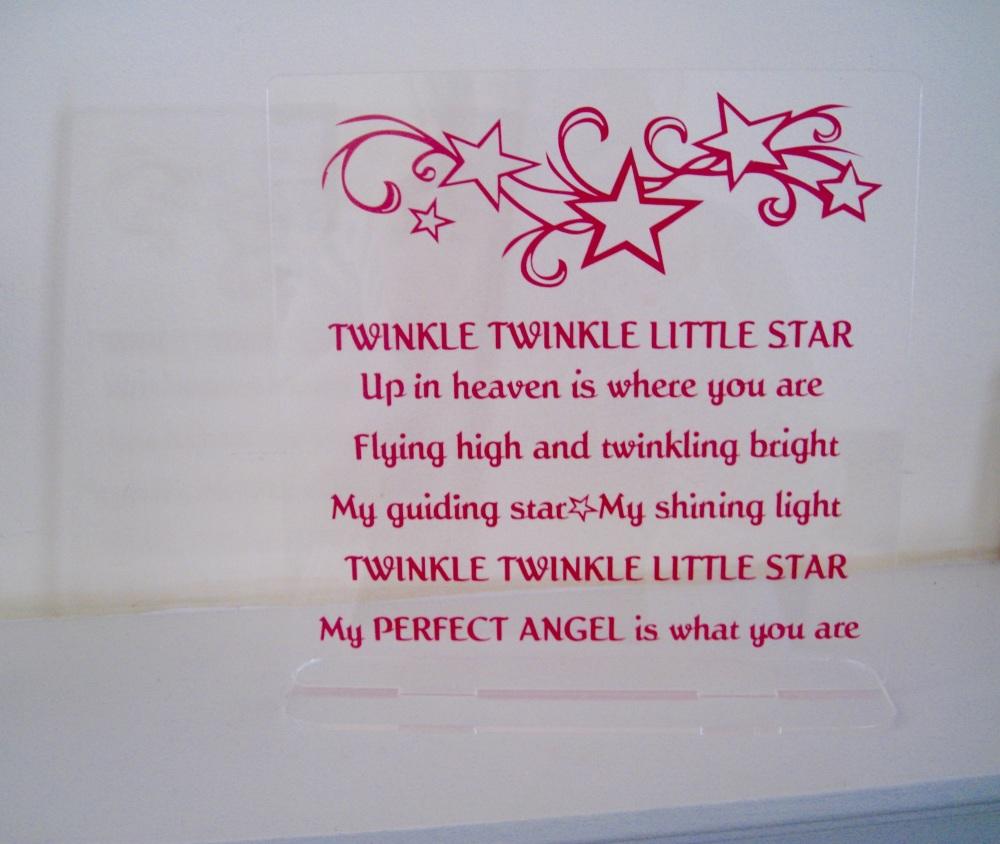 Acrylic Frame - Twinkle Twinkle