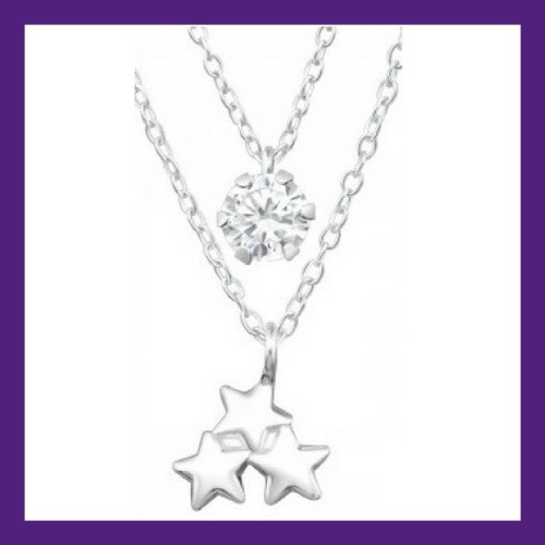 Twinkle Twinkle Little Star, 3 beautiful little sterling silver stars layer