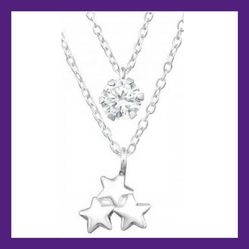 Twinkle Twinkle Little Star, 3 beautiful little sterling silver stars layer