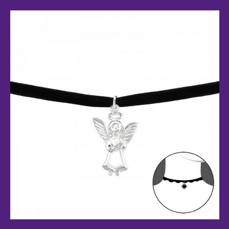 Sterling Silver Little Angel, choice of necklace