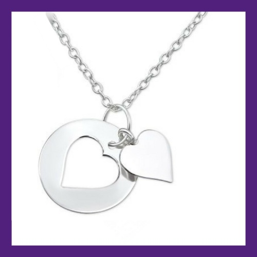 Sterling Silver Little Dainty Heart, approx size 13 mm x 13 mm - centre hea