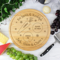 £14.00 & Santa Mince Pie u0026 Carrot Plate Personalised
