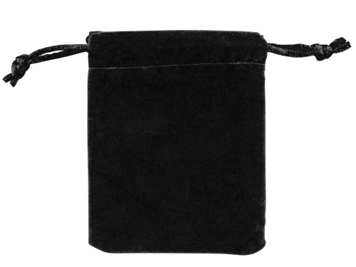 Anti Tarnish Black Velveteen Drawstring Pouch