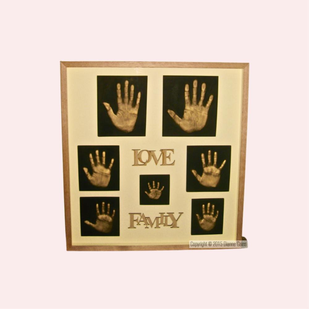 Family Set 7 Single Handprints