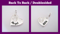 Medium Pendant Individual - Double Sided Fingerprint Jewellery - Hand & Footprints, Kisses, Doodles, Own Writing