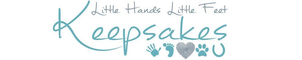 Little Hands, Little Feet Keepsakes, site logo.