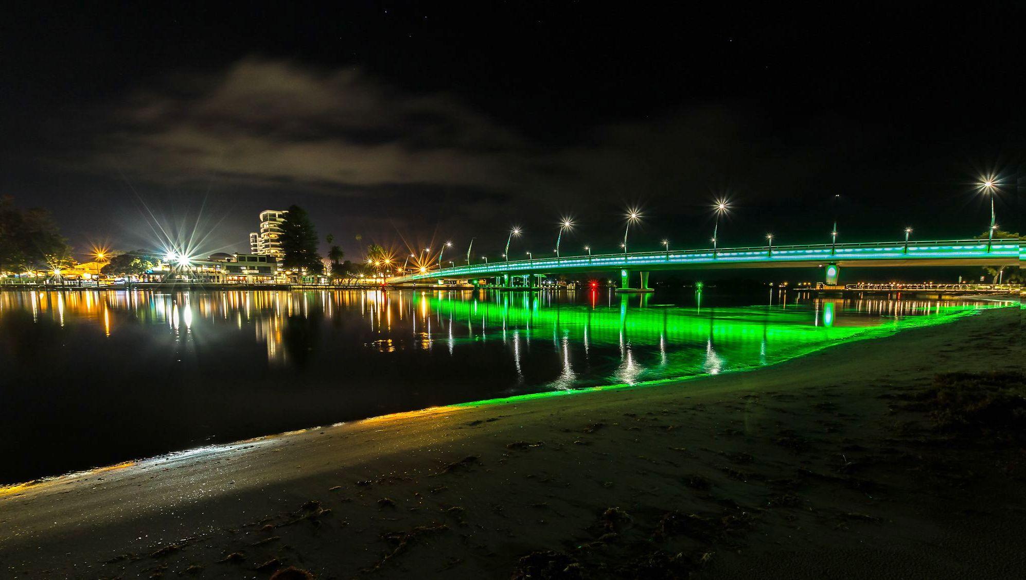 Mandurah bridge lights