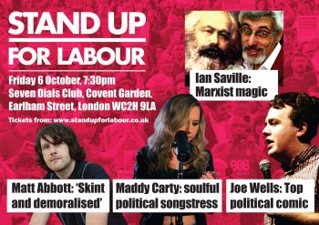Stand up for Labour - Central London, Friday 6 October (Earlybird ticket)