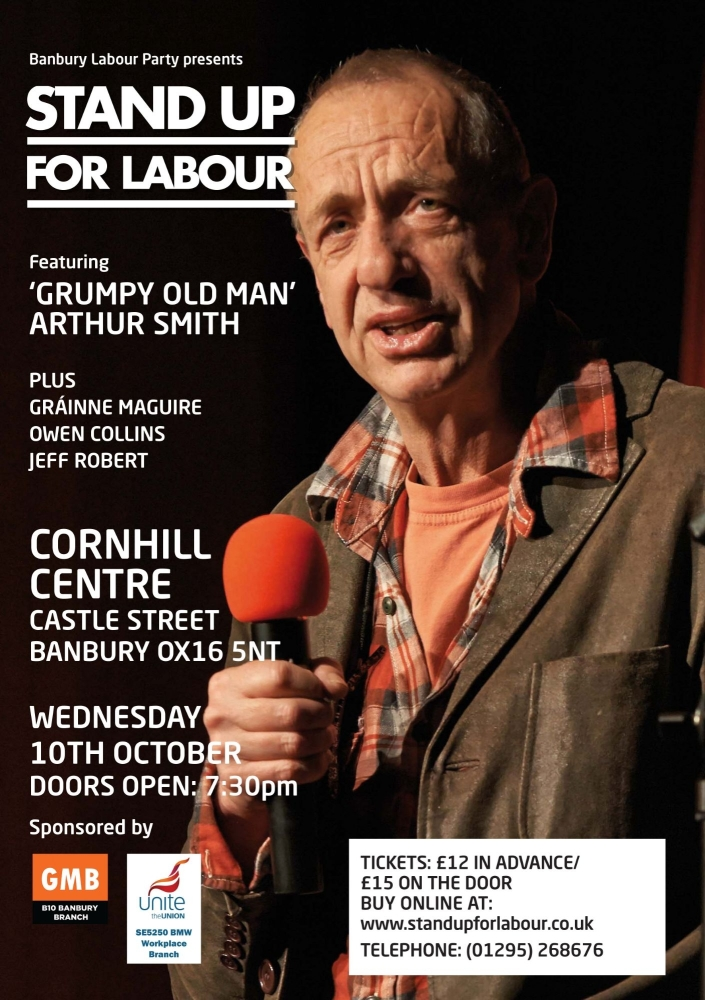 Stand up for Labour - Banbury, Wednesday 10th October, 7:30pm