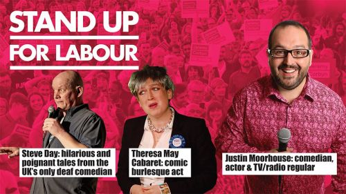 Stand up for Labour - Leek, 20th September, advanced tickets
