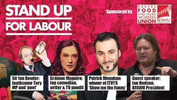 Stand up for Labour - Stevenage, Thursday 28th February, 7:30pm (earlybird tickets)