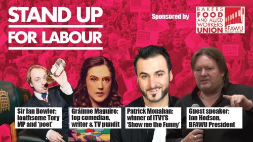 Stand up for Labour - Stevenage, Thursday 28th February, 7:30pm (earlybird
