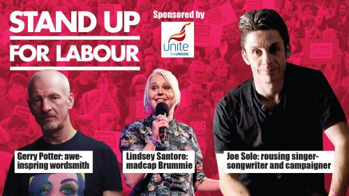 Stand up for Labour - Stoke, Thursday 28nd March, 7:30pm (earlybird)